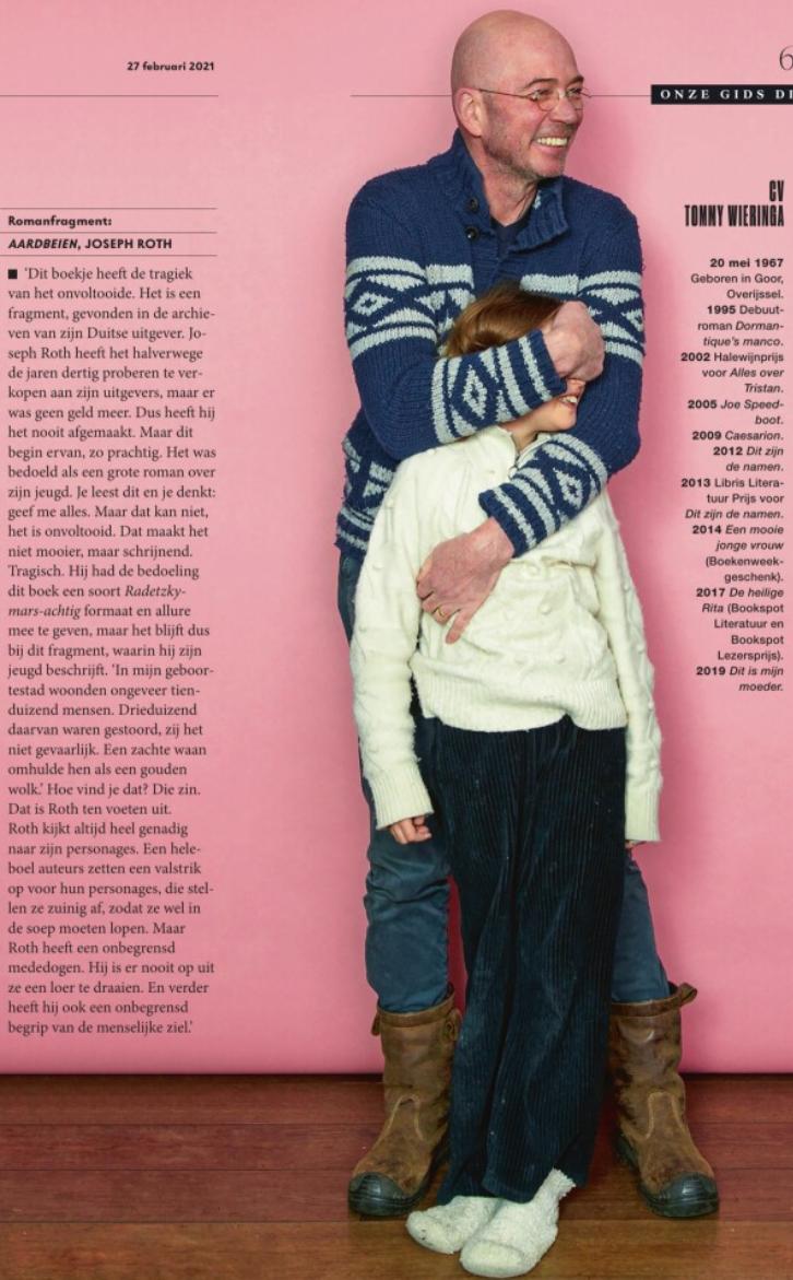 Onze Gids dit weekeinde, Tommy Wieringa in Volkskrant Magazine
